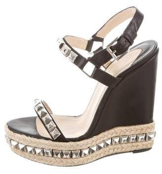 Christian Louboutin Cataclou Studded Espadrille Wedges