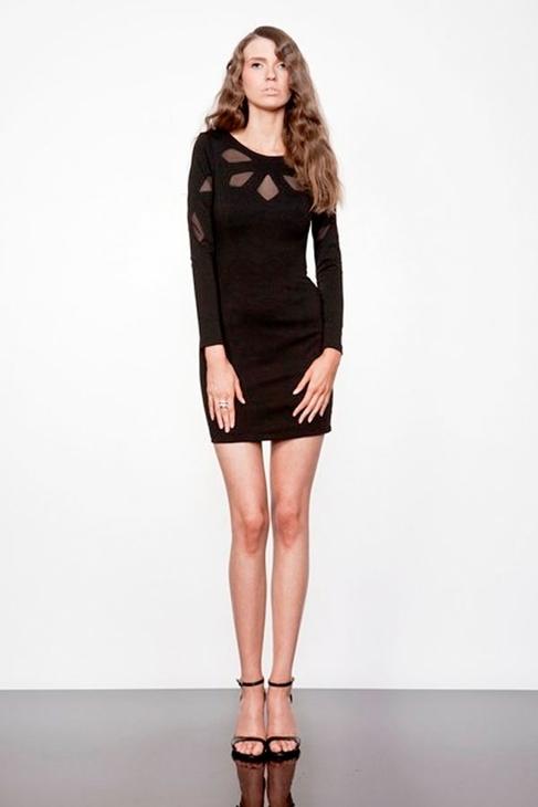 Keepsake Love Out of Lust Long Sleeve Dress in Black