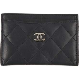 Chanel Black Leather Wallets