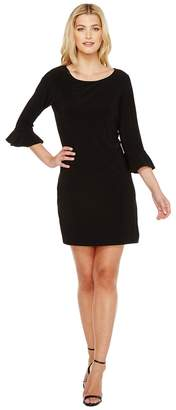Laundry by Shelli Segal Matte Jersey Flounce Sleeve Dress Women's Dress