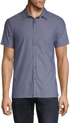 Perry Ellis Men's Slim-Fit Dobby Button-Down Shirt