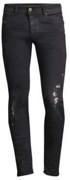 Diesel Sleenker Distressed Skinny Jeans