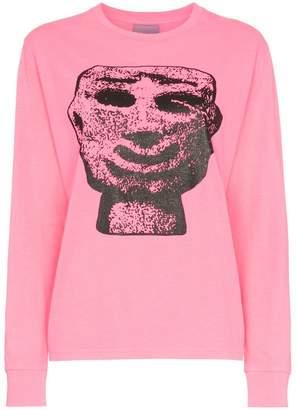 Ashley Williams Stone head graphic cotton t-shirt