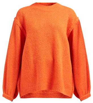 Acne Studios Kiara Exposed Seam Knitted Sweater - Womens - Red