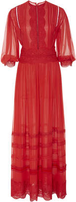 Costarellos Silk Chiffon Maxi Dress