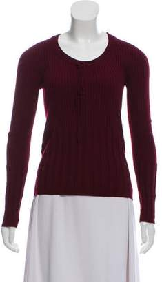 Dolce & Gabbana Wool Rib Knit Sweater