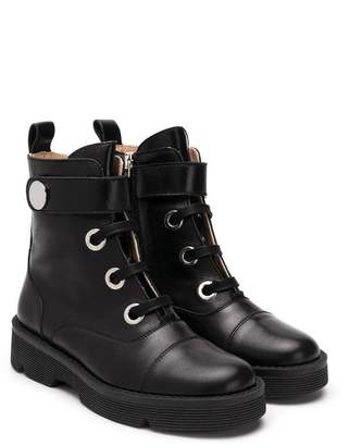 Emporio Armani Kids lace-up boots