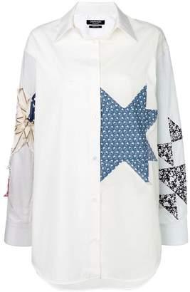 Calvin Klein patchwork shirt