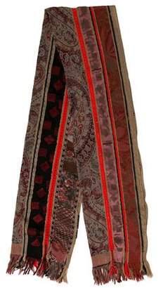 Etro Wool-Blend Paisley Scarf