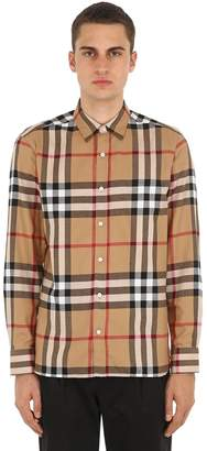 Burberry Richard Checked Cotton Flannel Shirt