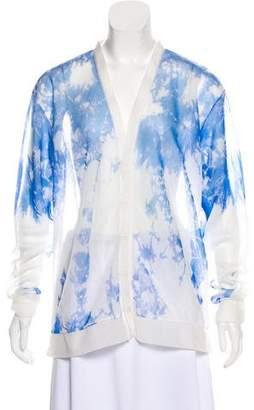 Alexander Wang Long Sleeve Semi-Sheer Cardigan