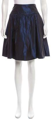Ralph Lauren Black Label Silk Knee-Length Skirt