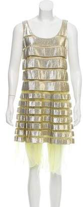 Marc Jacobs Metallic Striped Dress w/ Tags