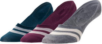 Sof Sole Women's Finish Line Varsity 3-Pack Footie Socks