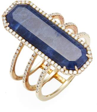 Meira T Women's Yellow Gold Lapis Ring