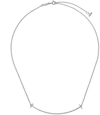 Tiffany & Co. & Co 18kt white gold T smile diamond pendant necklace
