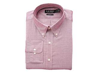 Lauren Ralph Lauren Slim Fit Non Iron Stretch Pinpoint Dress Shirt