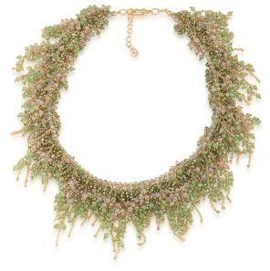 ABS By Allen SchwartzVibrant Vibes Beaded Collar Necklace