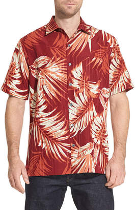 Van Heusen Air Sandwashed Printed Camp Short Sleeve Button-Front Shirt