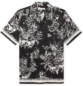 Givenchy Camp-Collar Printed Cotton Shirt