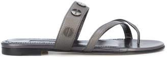 Manolo Blahnik Scrusa studded sandals