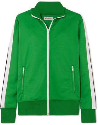 Palm Angels Striped Jersey Track Jacket - Green