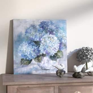 August Grove Hydrangea Painting Print on Canvas