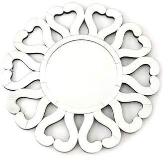 """Fab Glass and Mirror DI AMORE Stylish Sunburst Wall Mirror Design, 31.5""""L x 31.5""""W"""