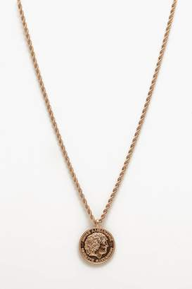 BoohoomanBoohooMAN Mens Metallics Classic Coin Necklace, Metallics