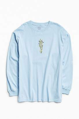 Urban Outfitters Embroidered Flower Power Long Sleeve Tee