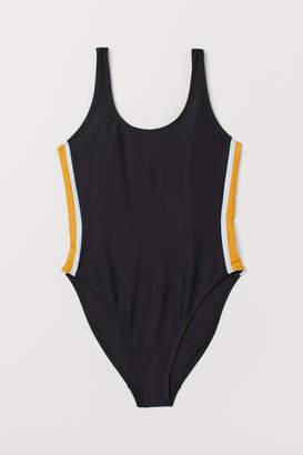 H&M Patterned Swimsuit - Black