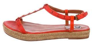 Lanvin Leather-Trim Espadrille Sandals