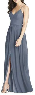Dessy Collection Full Length Bridesmaid Luxe Chiffon Dress