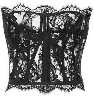Dolce & Gabbana Cotton lace bustier