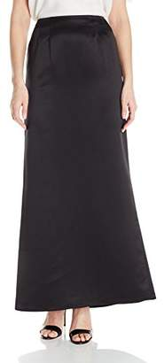 Alex Evenings Women's Long Satin Fishtail Occasion Skirt