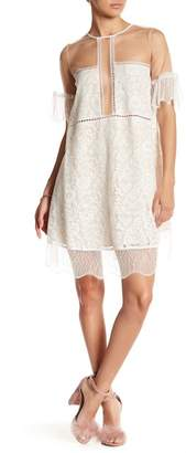 KENDALL + KYLIE Kendall & Kylie Lace Panel Trapeze Dress