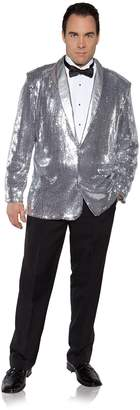 Underwraps Men's Plus-Size Sequin Jacket