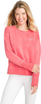Vineyard Vines Long-Sleeve Garment Dyed Vintage Whale Crewneck Sweatshirt