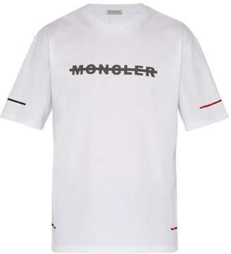 Moncler Logo Print Cotton T Shirt - Mens - White