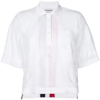 Thom Browne mesh polo shirt