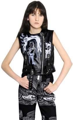 Moto Sleeveless Leather Vest