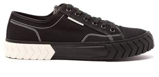 Both - Tyre Tread Low Top Canvas Trainers - Mens - Black White