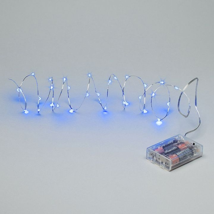 Gerson 60-in. outdoor blue led light string with timer
