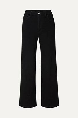 Eve Denim Charlotte High-rise Wide-leg Jeans - Black