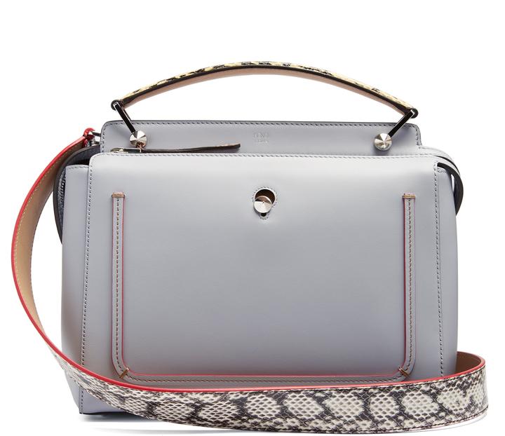 FendiFENDI Dotcom leather bag