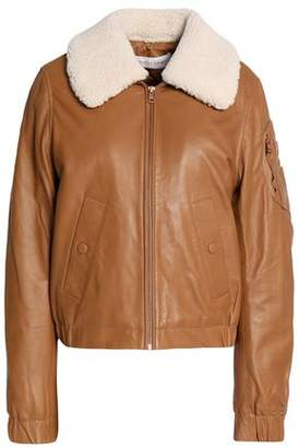 See by Chloe Shearling-Trimmed Leather Jacket
