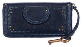 Chloé Leather Zip-Around Wallet