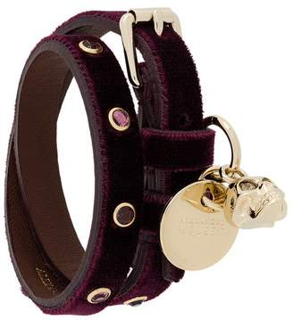 Alexander McQueen (アレキサンダー マックイーン) - Alexander McQueen velvet wrap bracelet