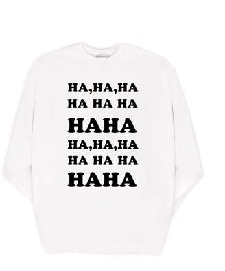Milly Cabana MillyMilly Ha Ha Ha Oversized Sweatshirt