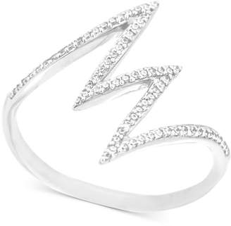 Wrapped Diamond Lightning Bolt Ring (1/6 ct. t.w.) in 10k White Gold, Created for Macy's